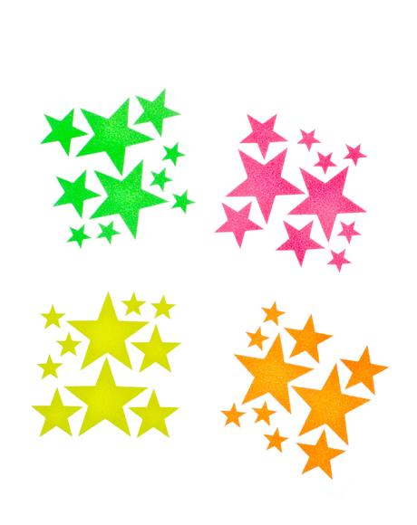 Star Blacklight Body Stickers