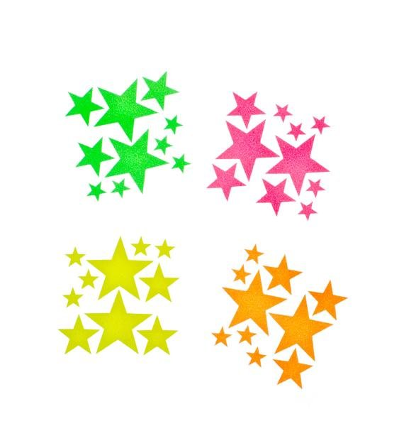 Sasswear Star Blacklight Body Stickers