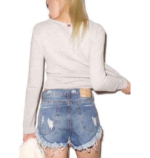 One Teaspoon Cobain Roller Shorts