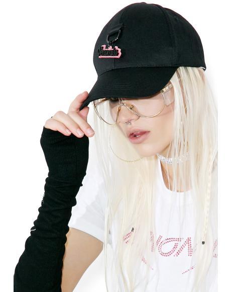 Glitter Charm Baseball Hat