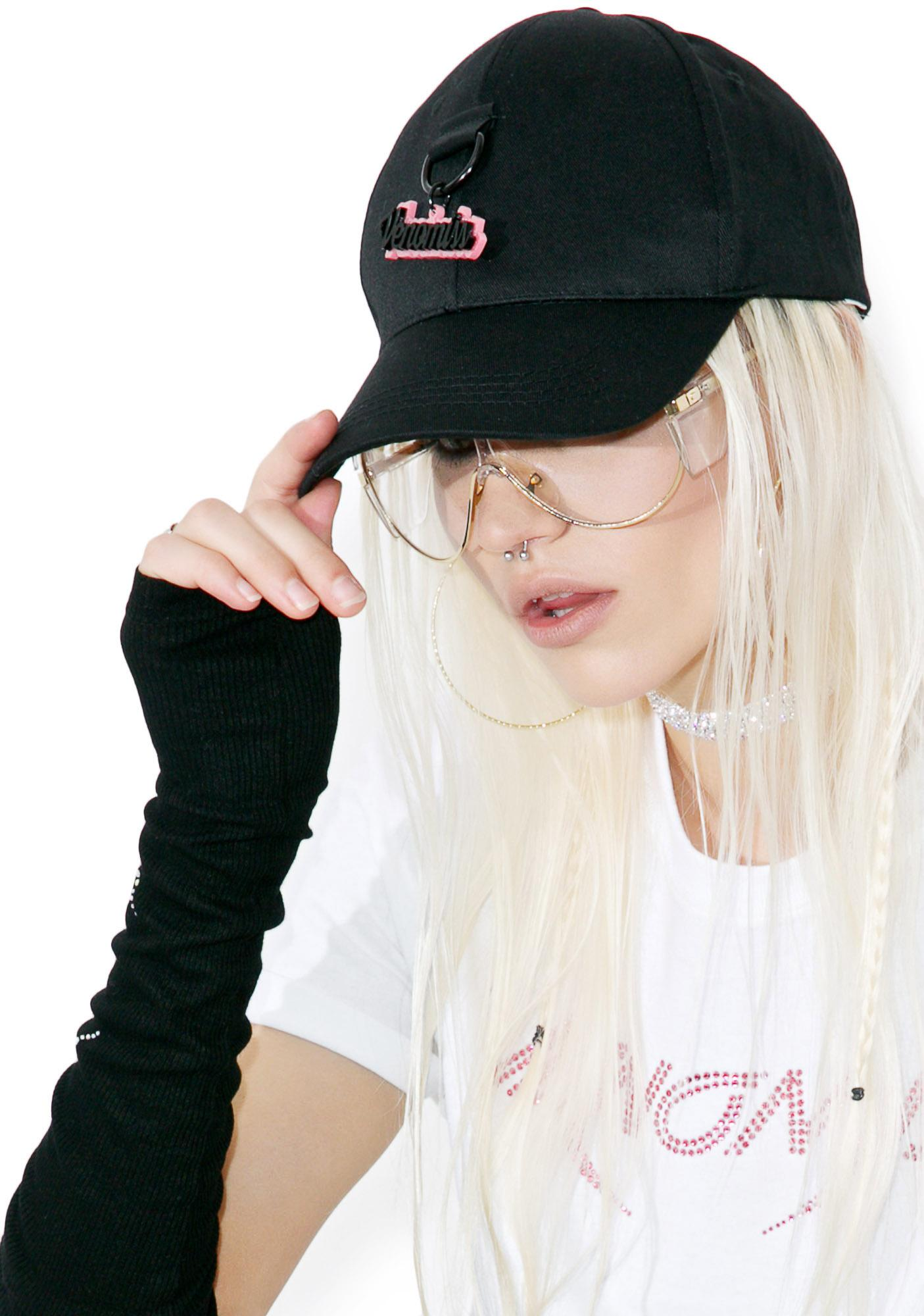 6506b086e81 ... Venomiss NYC Glitter Charm Baseball Hat ...