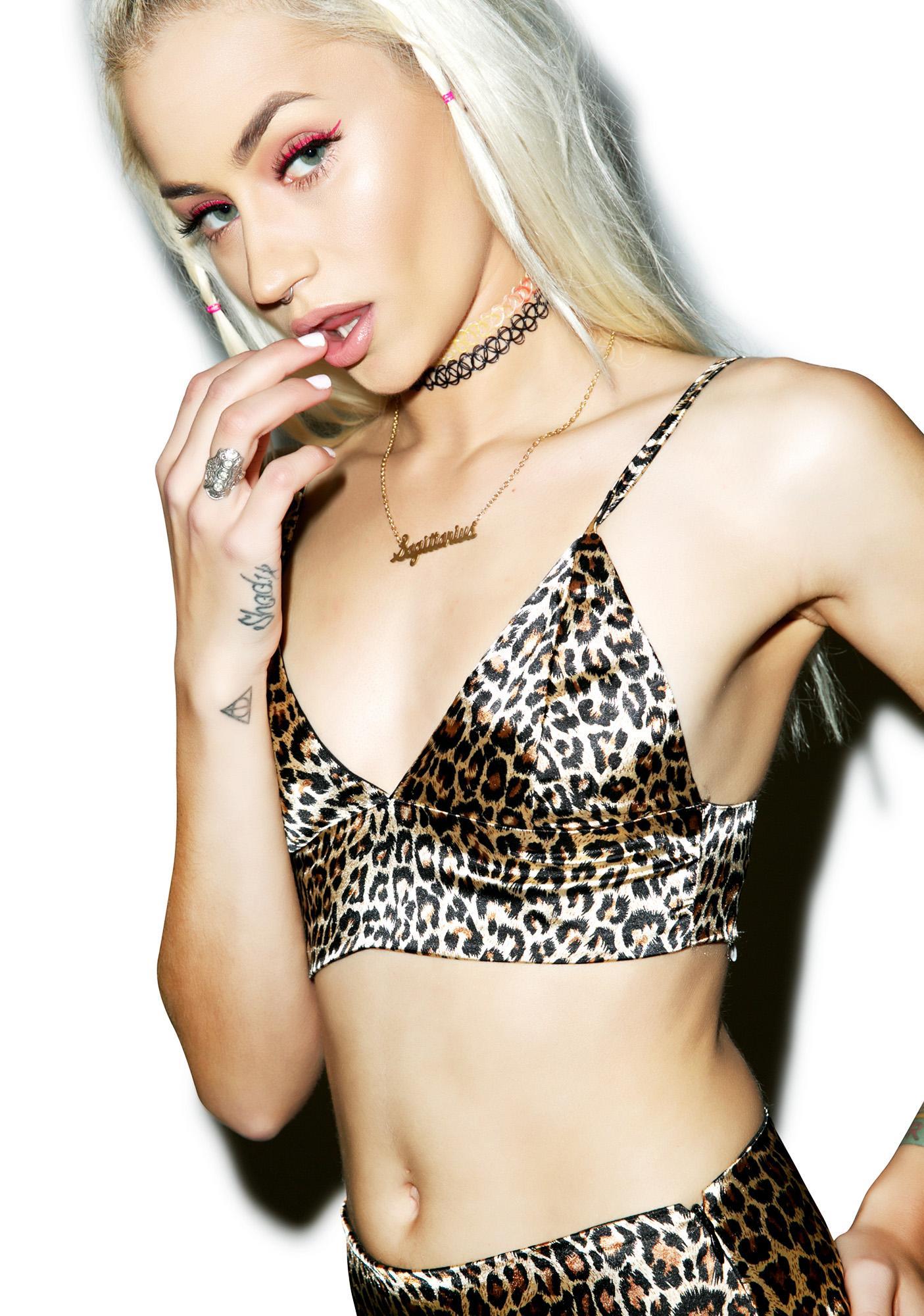 O Mighty Leopard Silk Kitten Bralette