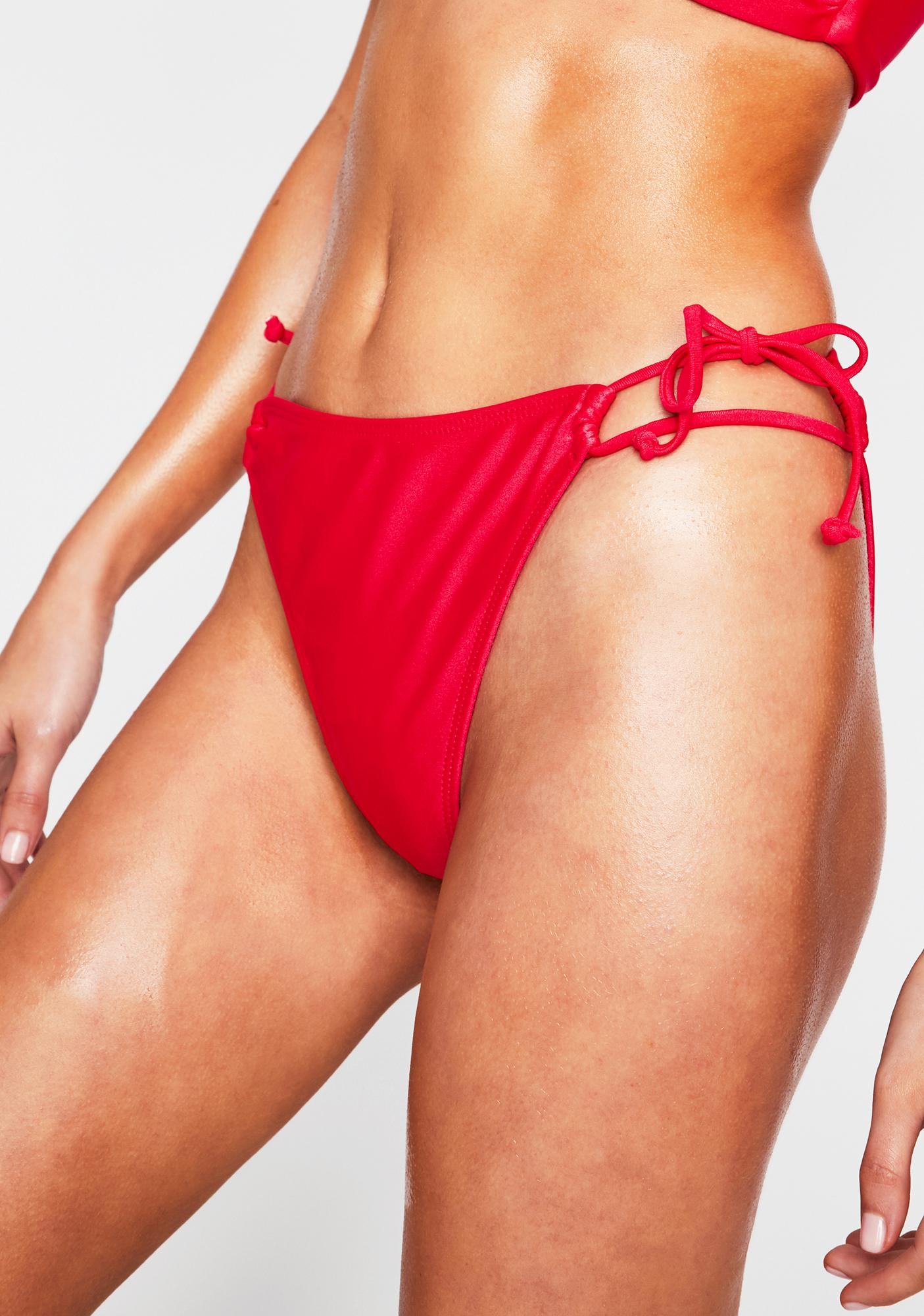 RIS-K Hot Pink Whimsical Bikini Bottoms