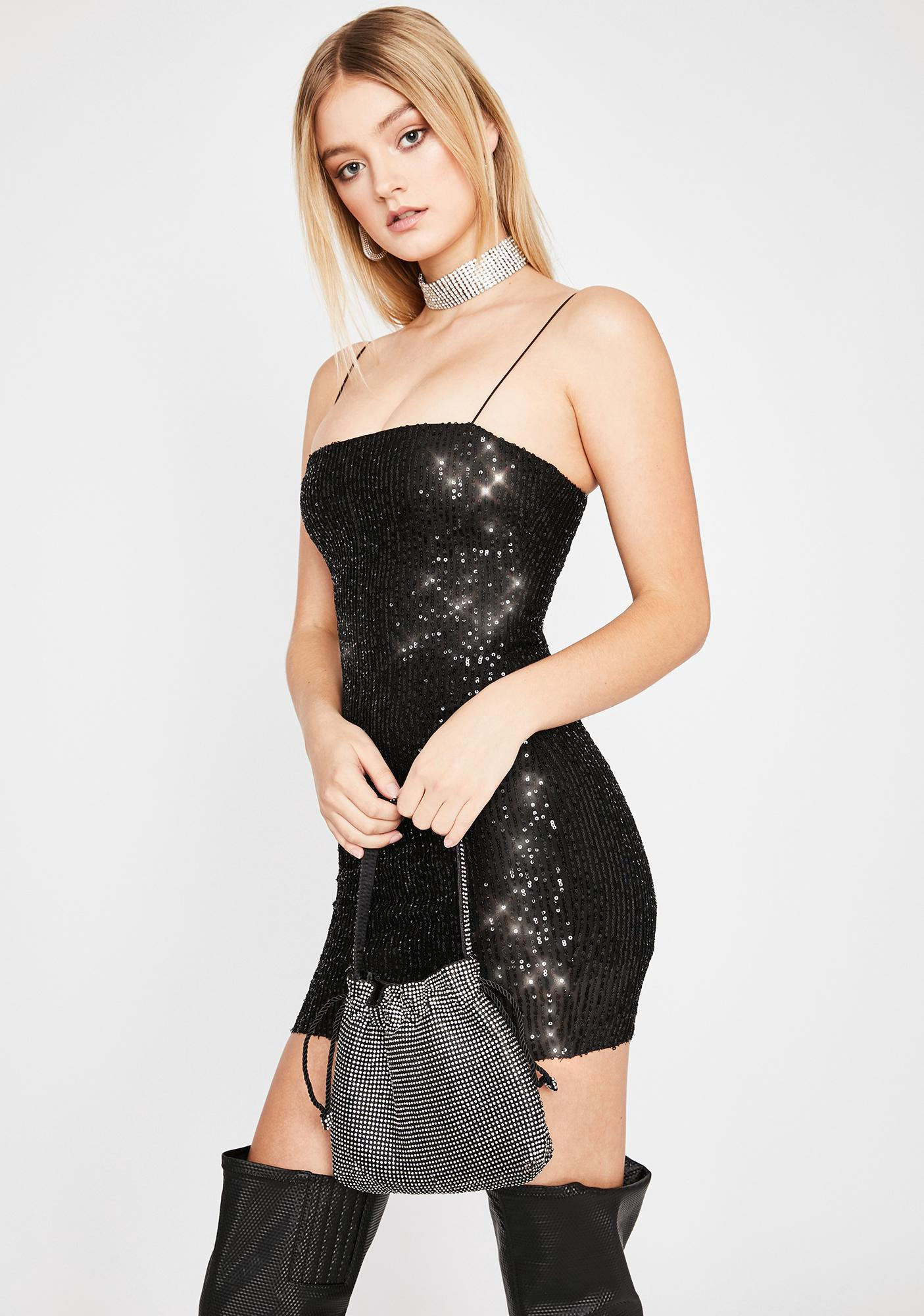 Noir Glitz N' Glam Mini Dress