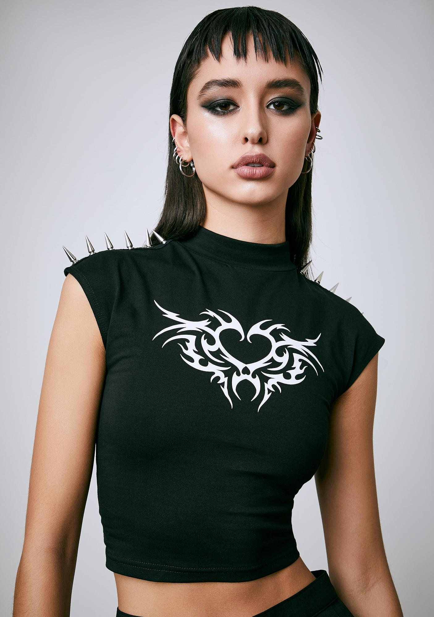 Current Mood War On Love Spiked Graphic Tee
