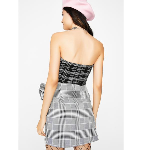 Plaid Frenzy Skirt