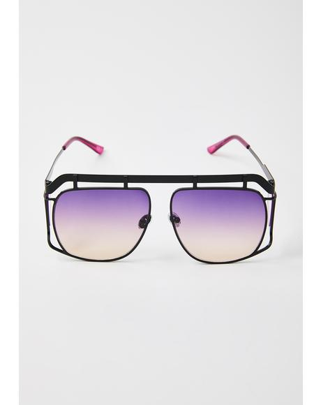 Galactic Ultimate Vibe Aviator Sunglasses