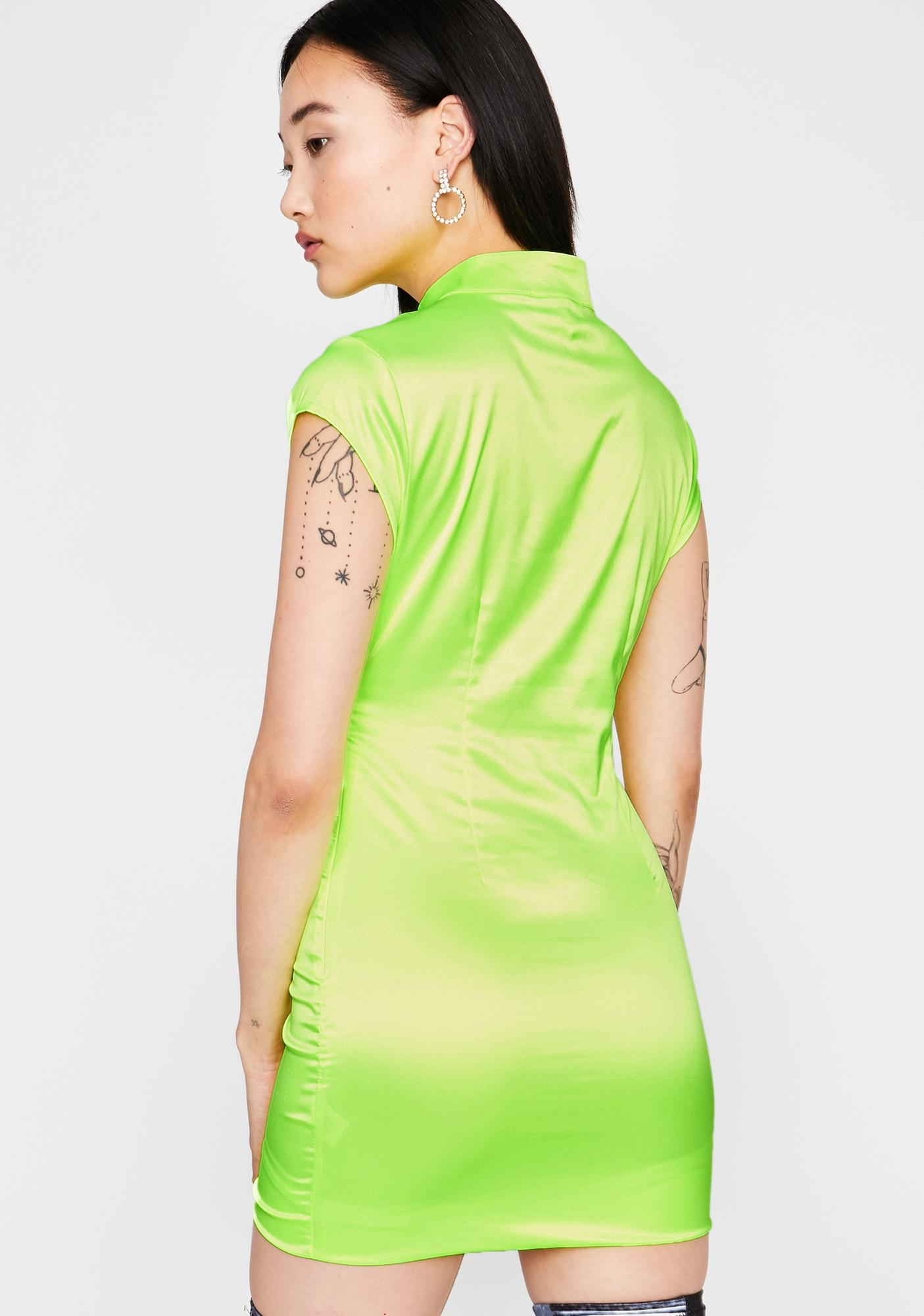 Toxic Fashionably Late Satin Dress