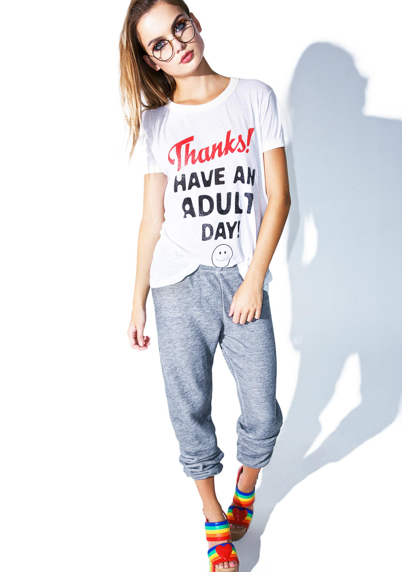 Wildfox Couture Adult Day Vintage Ringer Tee