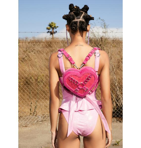 Club Exx Feel My Heartbeat Fuzzy Backpack