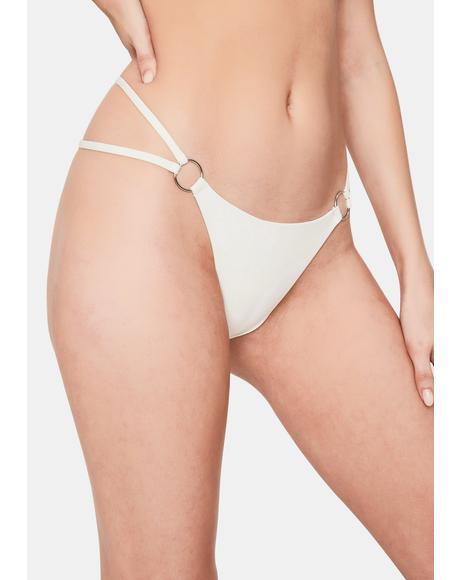 White Kailyn String Bikini Bottoms