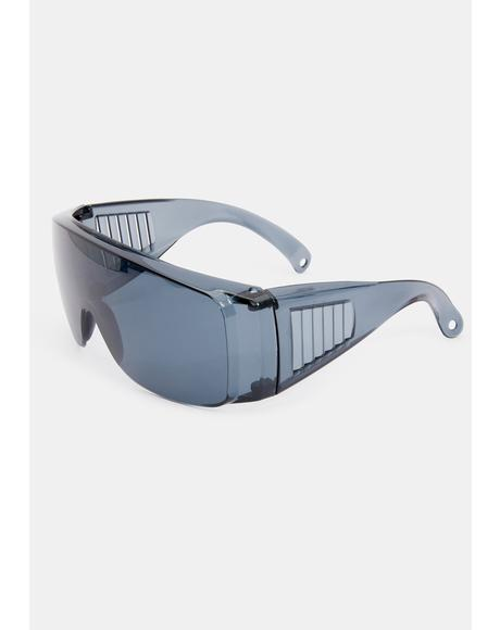 Pass The Test Shield Sunglasses
