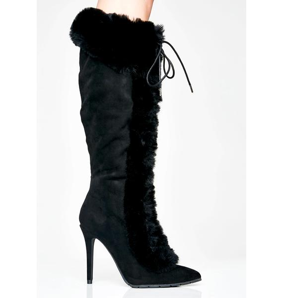Overnight Sensation Furry Boots
