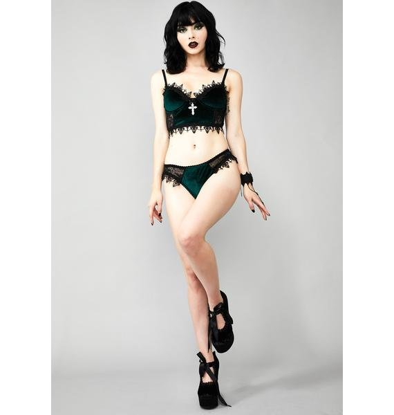 Widow Morphine Eyes Velvet Bra