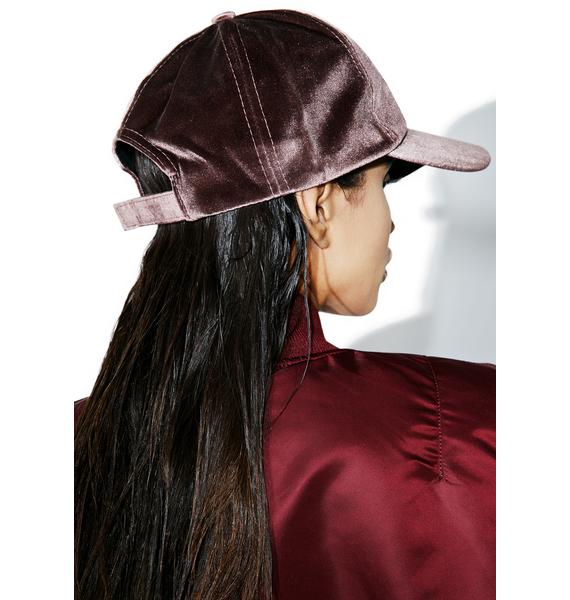 Mocha Velvet Dad Hat