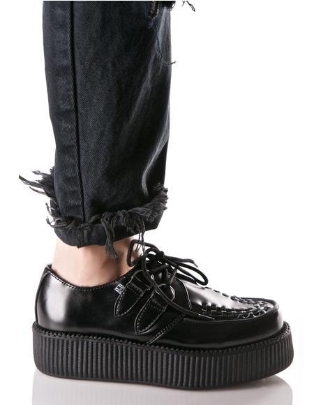 Black Leather Viva Mondo Creepers