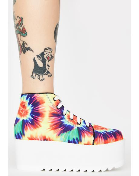 Tie Dye Barletta Platform Sneakers