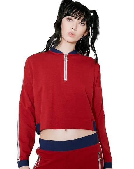 Crimson Sweat Top