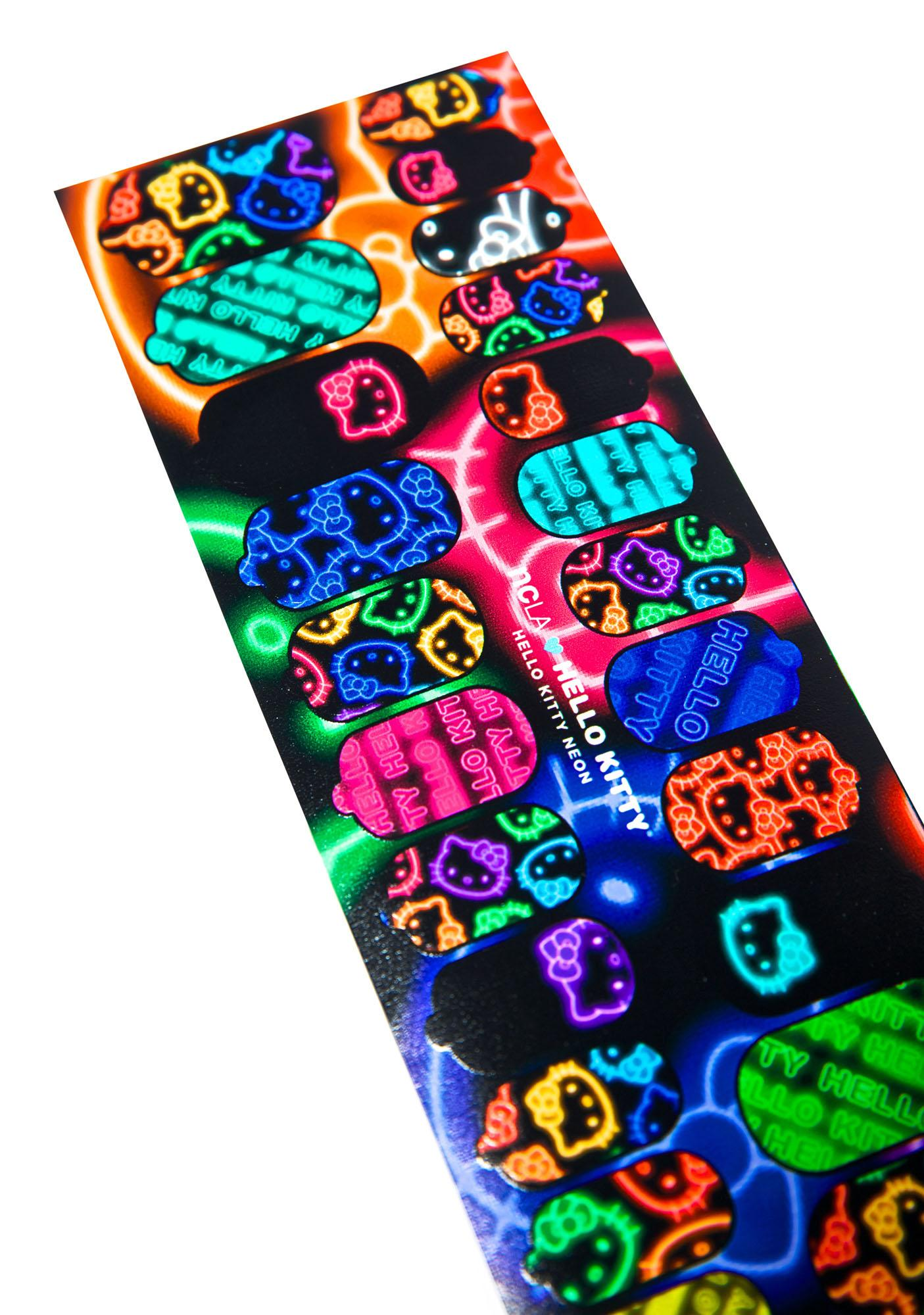 NCLA Hello Kitty Neon Nail Wraps