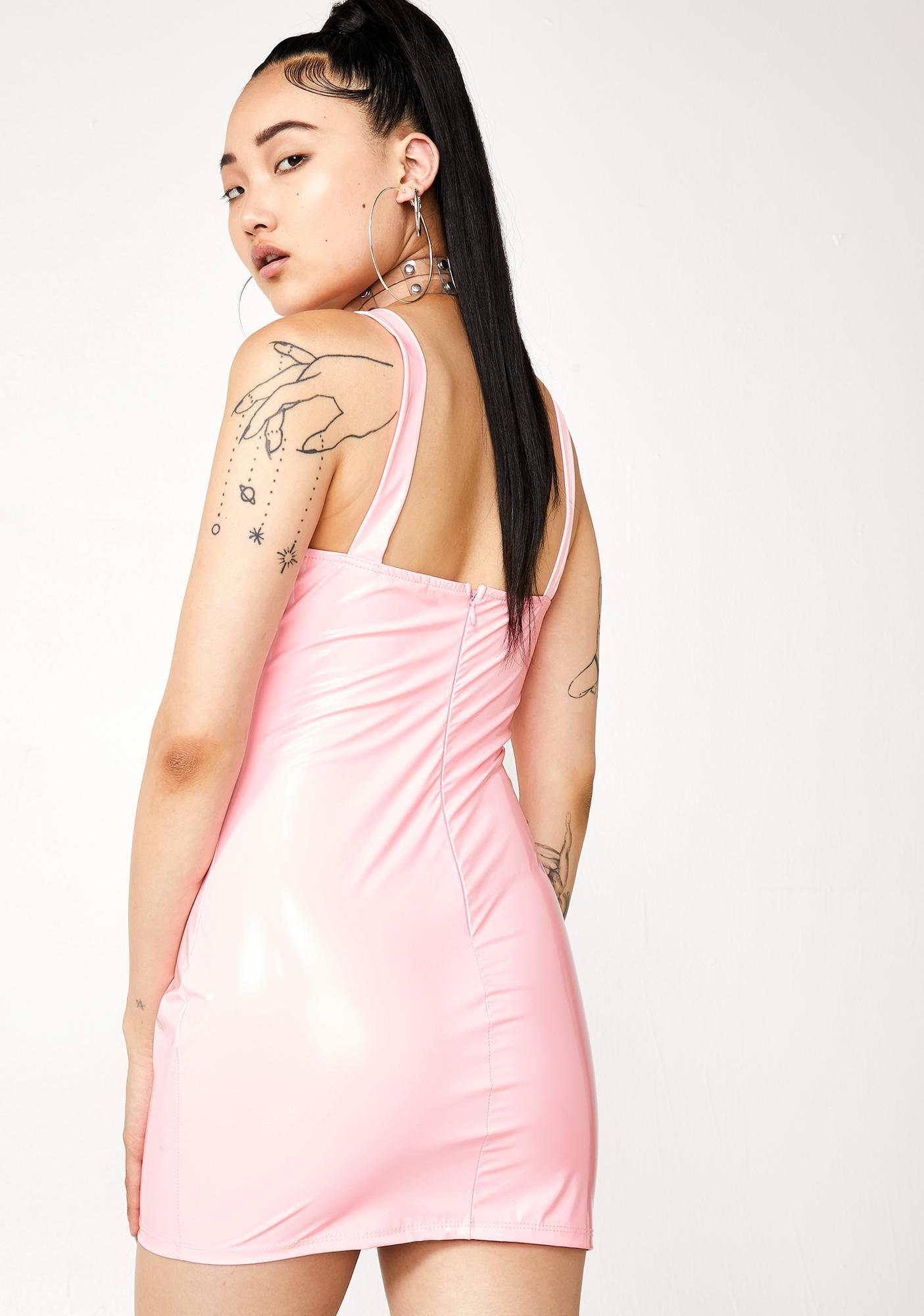 Blush Megathotzz Vinyl Mini Dress
