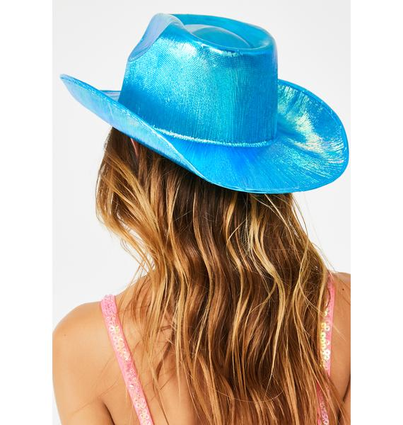 Replay Vintage Sunglasses Sky Rave Rodeo Iridescent Cowboy Hat