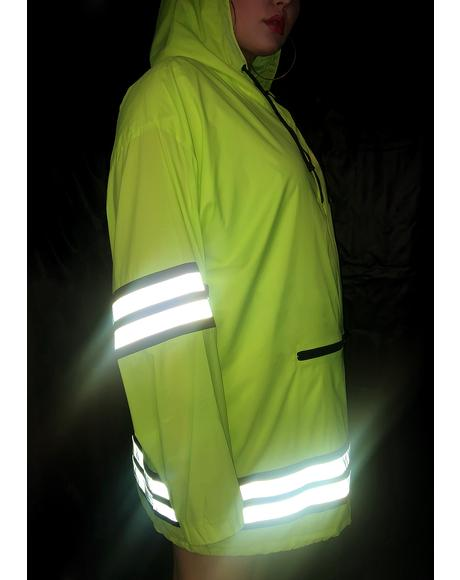 Mz Bodak Proceed With Caution Reflective Parka