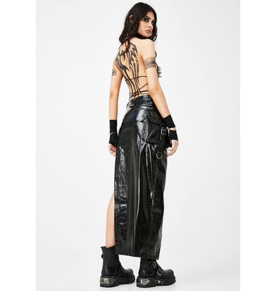 Punk Rave Latexity Asymmetric Skirt