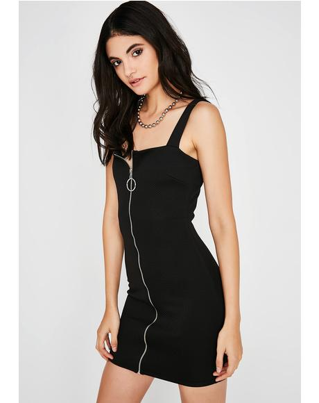 Lookin' Snatched ZIp Dress