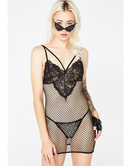 Night Dance Fishnet Dress Set
