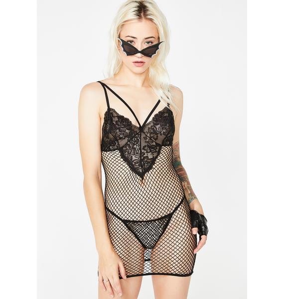 Night Dance Fishnet Dress Set