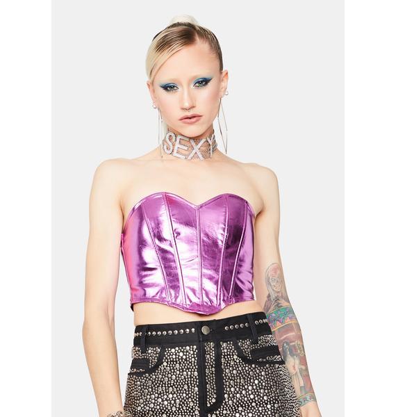 Fairy Heart Metallic Corset Top