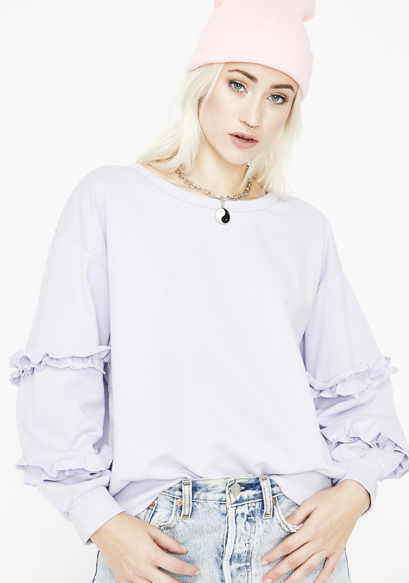 Too Cute For You Ruffle Sweatshirt