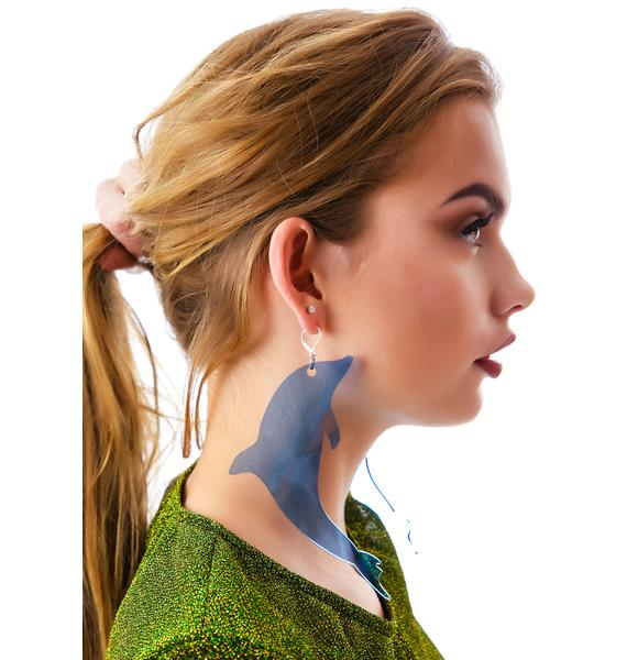 Marialia Marina Fini Dancin' Dolphin Earrings