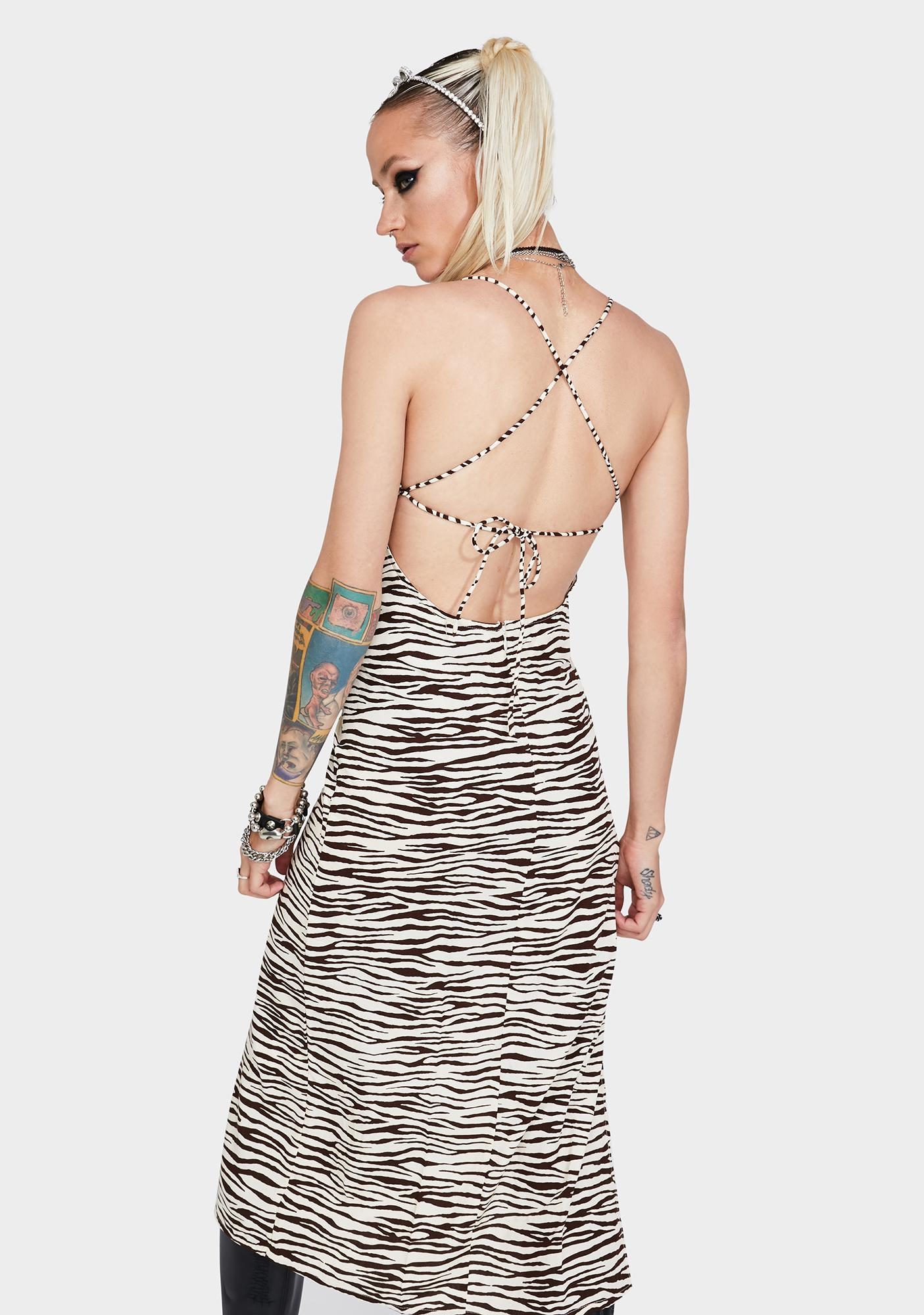 Motel Cocoa Tiger Mirzani Midi Dress