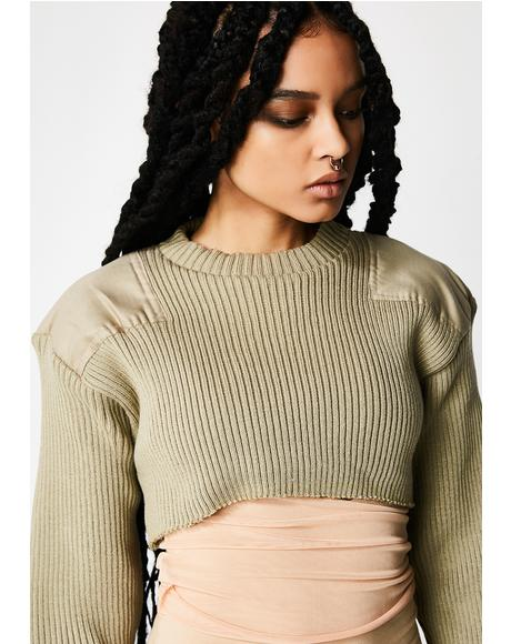 Plugged NYC Knit Collection Crop