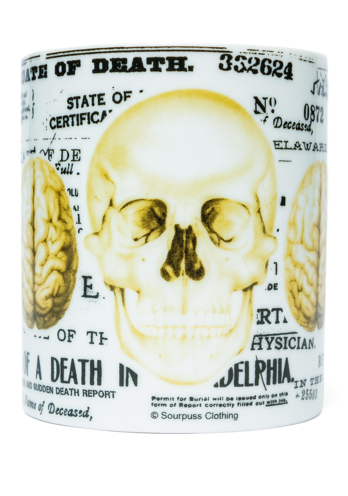 Sourpuss Clothing Skull Mug