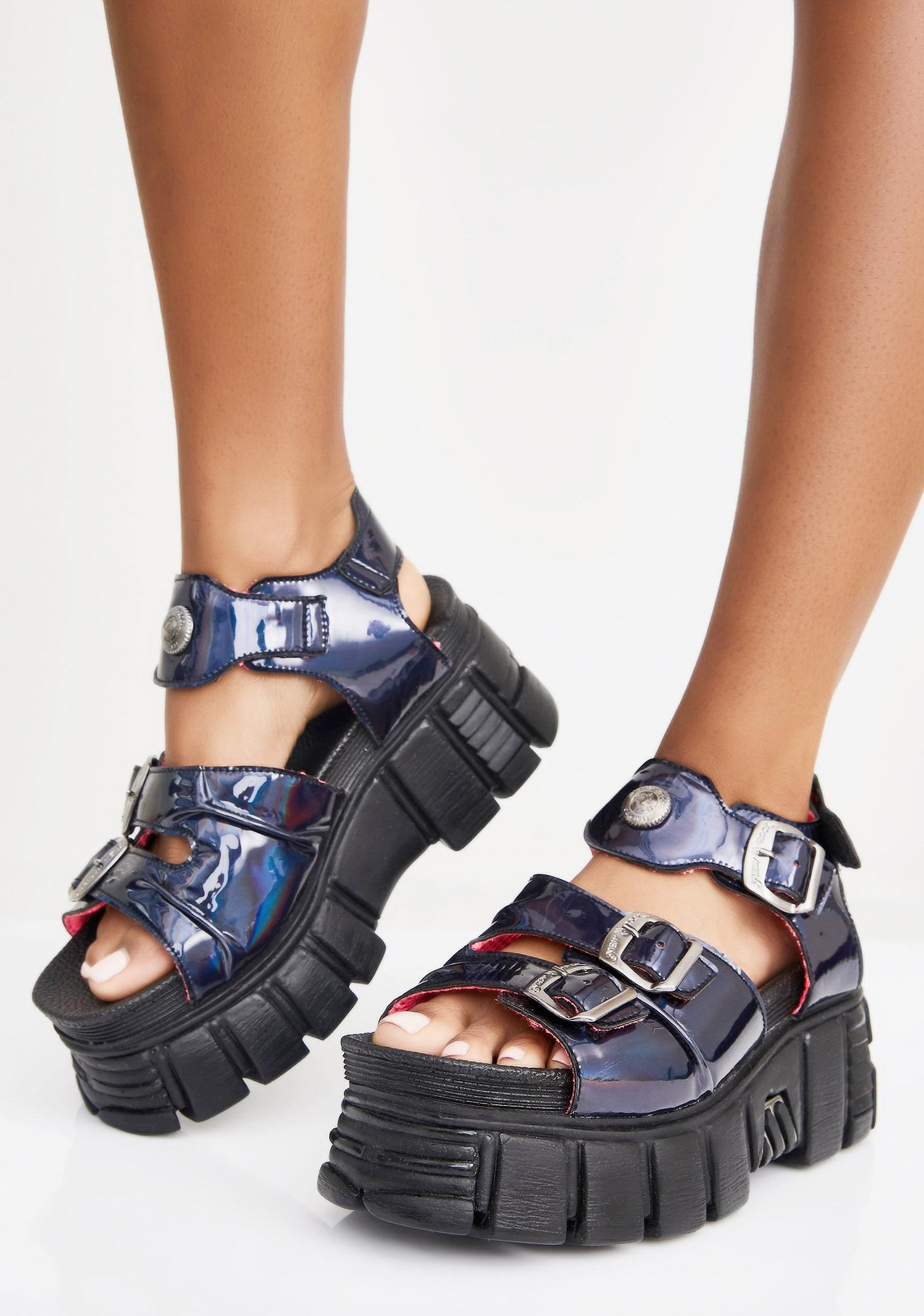 New Rock Disco Platform Sandals