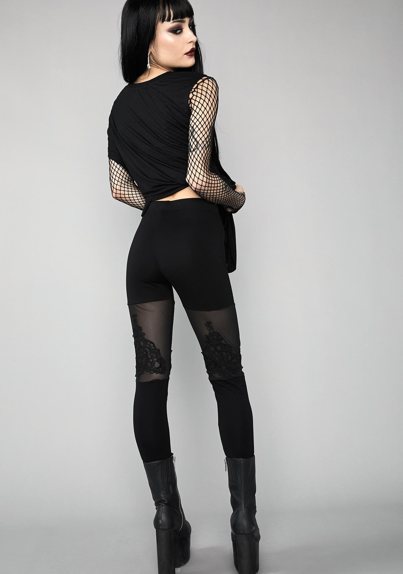 Widow Silent Vigil Mesh Leggings
