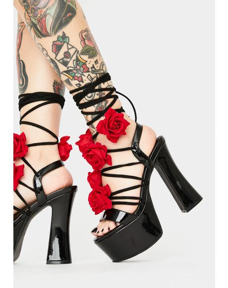 Loves U Not Lace Up Heels