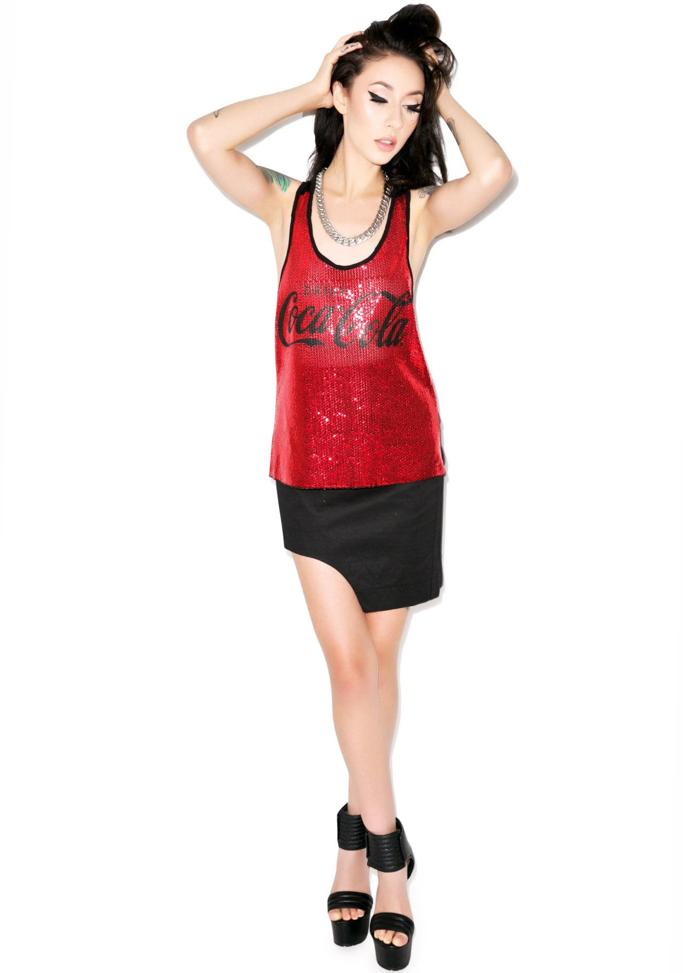 170d6358 Drink Coca Cola Sequin Tank | Dolls Kill