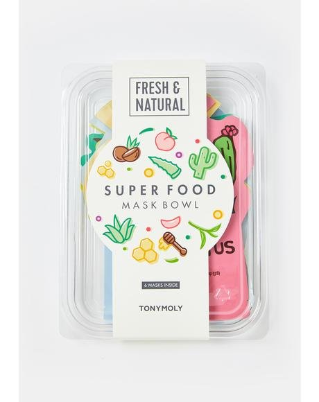Sheet Mask Super Food Bowl Set Of 6