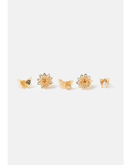 Go With The Flow Butterflies Earrings Set