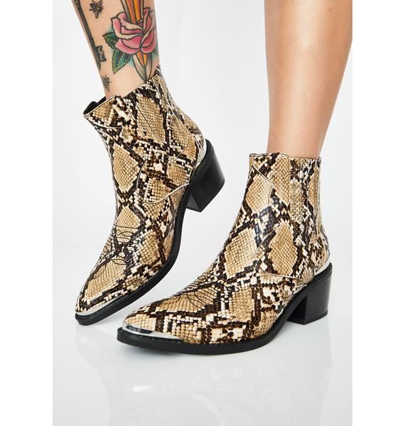 HOROSCOPEZ Relentless Rebel Snakeskin Boots