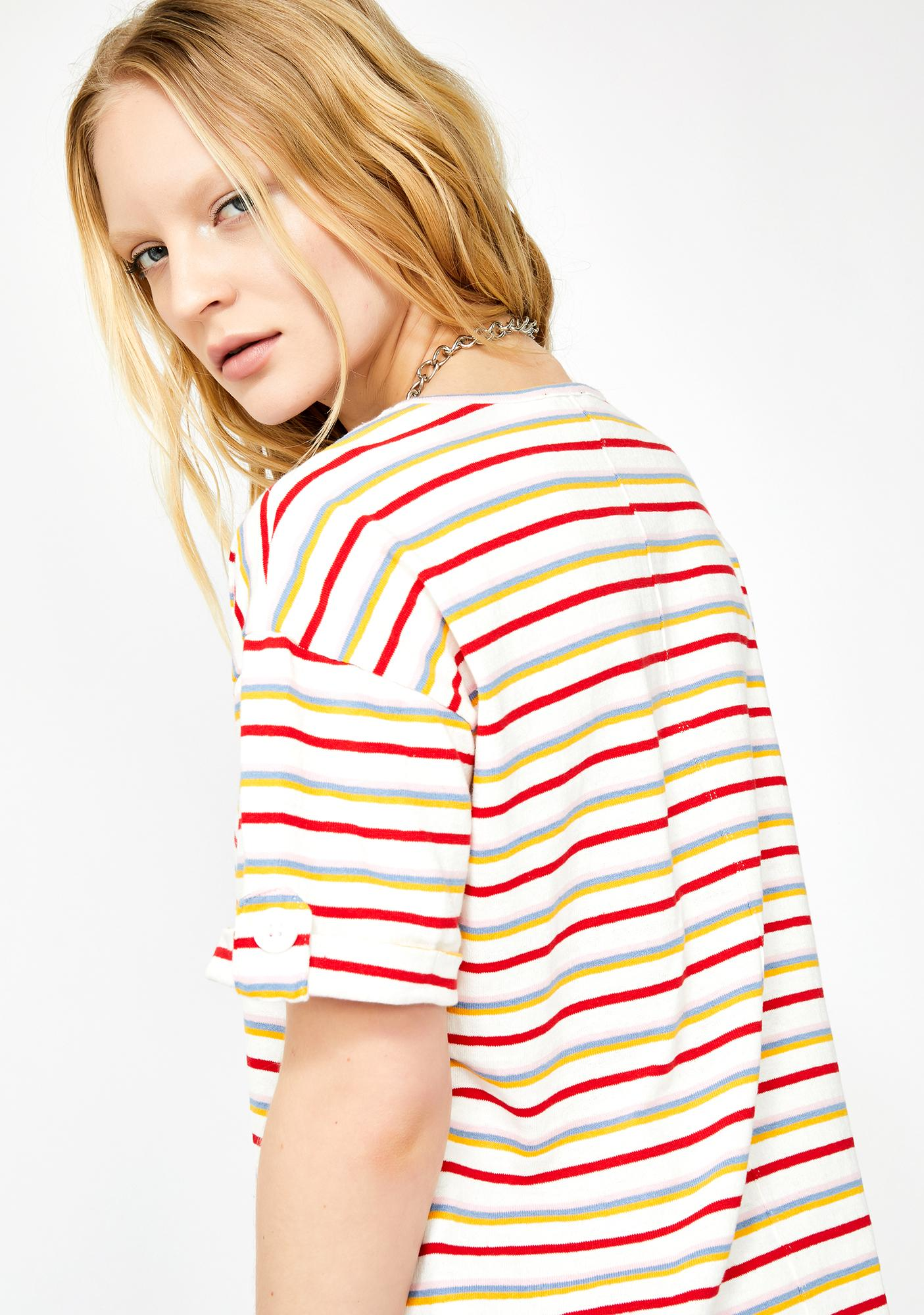 In A Funk Striped Tee