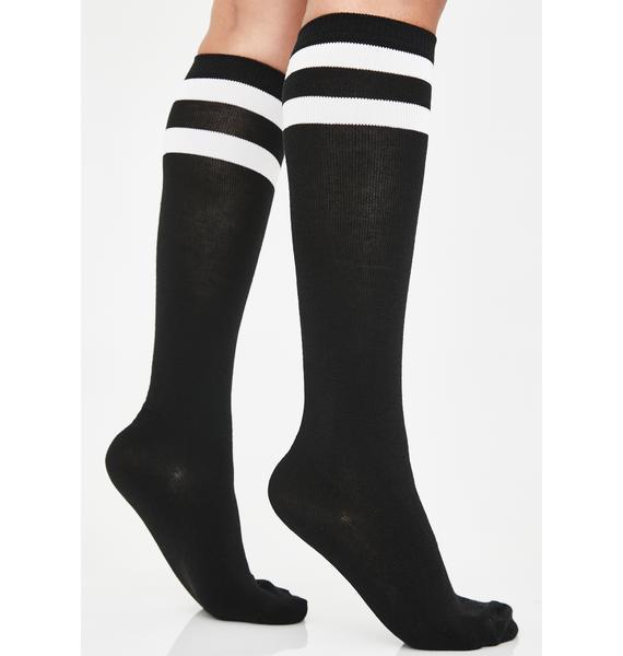 Sin Locker Room Goss Knee High Socks