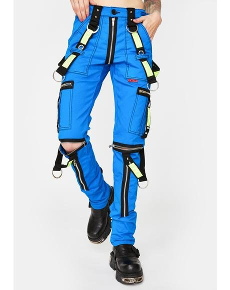 Blue Electric Reflective Pants