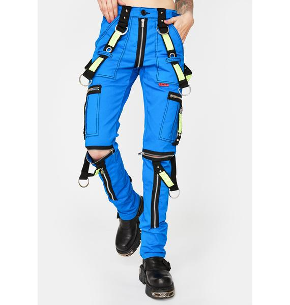 Tripp NYC Blue Electric Reflective Pants
