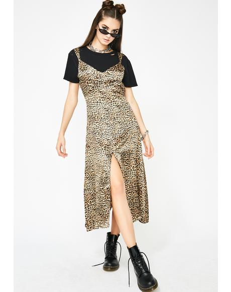 Wild Thang Leopard Slip Dress