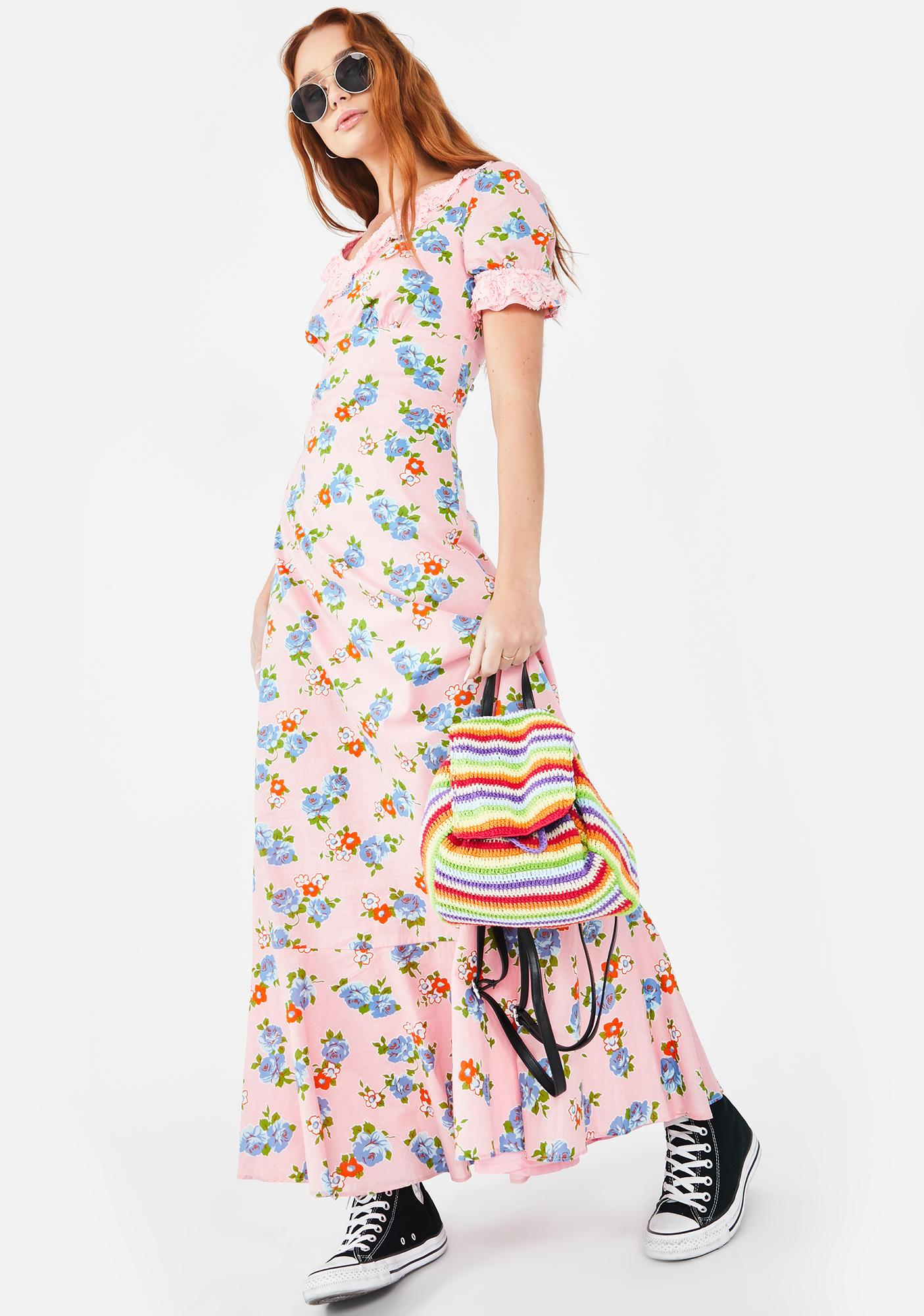 Molly Bracken Woodstock Flower Maxi Dress