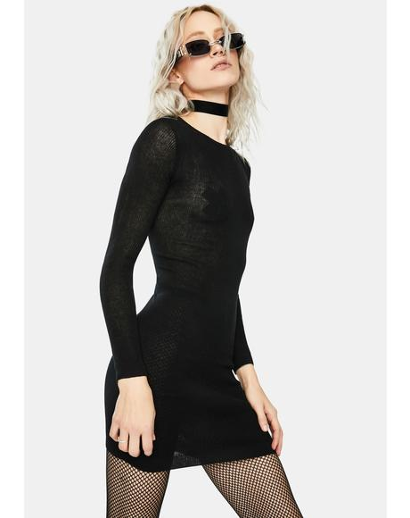Black Dharma Knit Dress